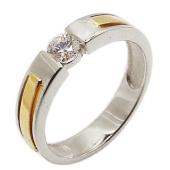 Кольцо Премиум с бриллиантом, комбинированное золото