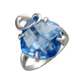 Кольцо с нанотопазом из серебра