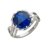 Кольцо с нанотопазом Лондон из серебра