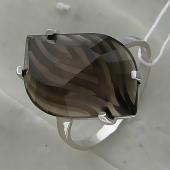 Кольцо Лили с большим раухтопазом, серебро