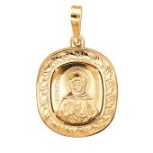 Подвеска Святая Матрона из серебра 925 пробы с позолотой