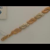 Браслет декоративный, комбинированное золото 9мм