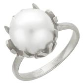 Кольцо с большой жемчужиной 6.74 карат, белое золото