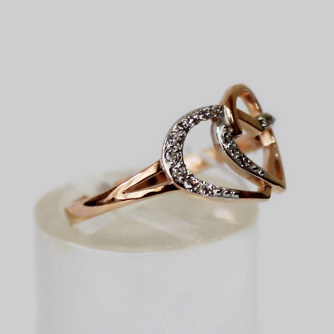 Золотое кольцо Два Сердца вместе 05c37f2093b7c