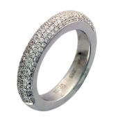 Кольцо Дорожка с бриллиантами, белое золото 750 проба