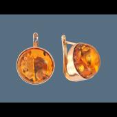 Серьги с круглым симбирцитом, серебро