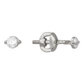 Серьги-пусеты с круглыми бриллиантами 0.27 карат, белое золото