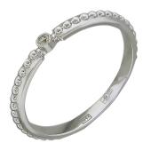 Кольцо Викс с бриллиантом, белое золото