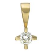 Кулон Бриллиант в оправе, желтое золото 750 проба