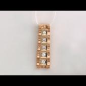 Кулон Дорожка с бриллиантами, желтое и белое золото 750 проба