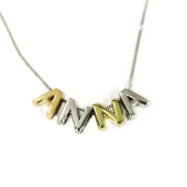 Кулон Викс буква А, латинская A, красное золото