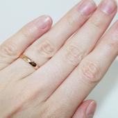 Кольцо обручальное гладкое округлое, красное золото, 585 пробы, 2.3 мм