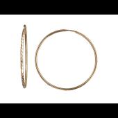Серьги Конго-Кольца с алмазными гранями елочка, красное золото 23 мм