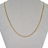 Цепь Нонна с алмазной огранкой 2-х сторон, жёлтое золото 585 проба 2.5мм