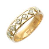 Кольцо Шарлотта с бриллиантами, комбинированное золото