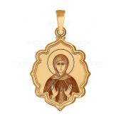 """Золотая икона """"Святая Евгения"""""""