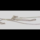 Цепь Двойной ромб с алмазной огранкой 2-х сторон, белое золото, 585 проба 1.5мм