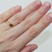 Кольцо обручальное из трех колец, комбинированное золото h=2 mm