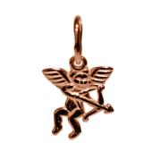 Кулон Купидон, красное золото, 1.2 см