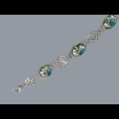 Браслет Розы с эмалевыми шариками из серебра