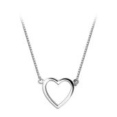 Колье Сердце из серебра 925 пробы