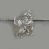 Кулон-шарм Царевна Лягушка с фианитами, серебро
