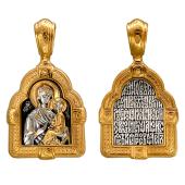 Тихвинская икона Божией Матери, серебро с позолотой и чернением