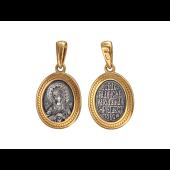 Икона Пресвятой Богородицы в овальном окладе, серебро с позолотой и чернением