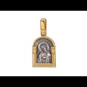 Образок Святой благоверный великий князь Александр Невский, на обороте Ангел Хранитель, серебро с позолотой