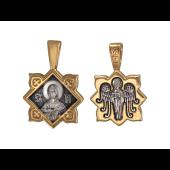 Икона Святая мученица Татиана, на обороте Ангел Хранитель, серебро с позолотой и чернением