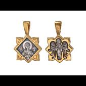 Икона Святая мученица Дария, на обороте Ангел Хранитель, серебро с позолотой и чернением