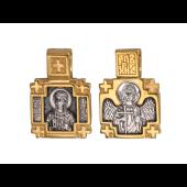 Икона Святая мученица Фотиния (Светлана) Самаряныня, на обороте Ангел Хранитель, серебро с позолотой и чернением