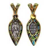 Феодоровская икона Божией Матери в серебряном окладе с позолотой и эмалью