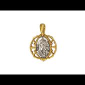 Казанская икона Божией Матери, на обороте Молитва, серебро с позолотой и чернением