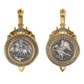 Икона Великомученик Димитрий Солунский из серебра с позолотой