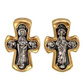 Крест с изображением Деисуса, на обороте Божия Матерь Никопея, серебро с позолотой и чернением