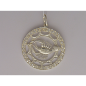 Кулон знак зодиака Рак в круге с фианитами, серебро