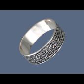 Кольцо православное Молитва Водителя, серебро с чернением