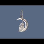 Подвеска мусульманская Полумесяц и Мечеть, серебро