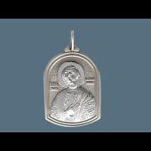 Икона Александр Невский из серебра
