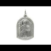 Икона Апостола Андрея Первозванного, серебро 30 мм