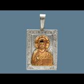 Господь Вседержитель в прямоугольном окладе, серебро