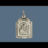 Казанская Икона Божьей Матери из серебра