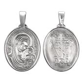 Казанская Икона Божьей Матери в овальном окладе из серебра