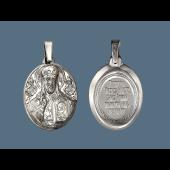 Господь Вседержитель в овальном окладе из серебра