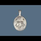 Ангел Хранитель в овальном окладе из серебра