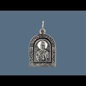 Николай Чудотворец в купольном окладе из серебра с чернением