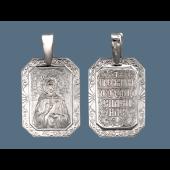 Матрона Святая в прямоугольном окладе из серебра