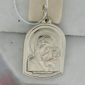 Икона Казанская Богоматерь, серебро