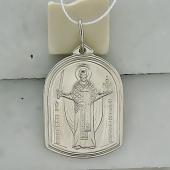 Святой Николай Чудотворец с молитвой, серебро